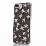 Caso macio de galvanização do Glitter TPU das estrelas de Hotselling para o iPhone 7/6s/6