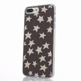 Caso macio de galvanização Star-Shaped do Glitter TPU para o iPhone 7/6s/6