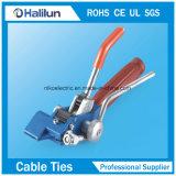 Type verrouillé d'aile de serres-câble de PVC Cpated d'acier inoxydable