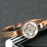 Elegantes Schmucksache-Form-Frauen-Edelstahl-Blumen-Charme-Armband-Armband