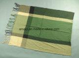 うまくヤーンによって染められるアクリルの点検されたスカーフ(ABF22004025)