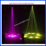 Iluminación LED 4PCS * 25W de la viga estupenda luz principal móvil