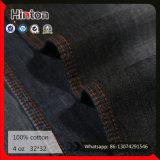 Tissu 100% noir de Shirting de denim de couleur du tissu 4oz de Jean de coton