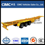 Cimc de Semi Aanhangwagen van de Container van het Skelet van de tri-As 40FT