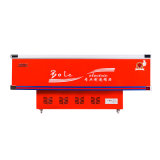 congelador liso do console do gabinete da porta 538L deslizante para o volume maior