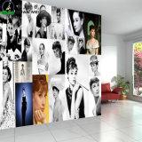 Papel pintado mural de encargo del Non-Woven de la pared del fondo de la pintura KTV de la belleza del almacén del salón de la peluquería del sitio de la foto del papel pintado