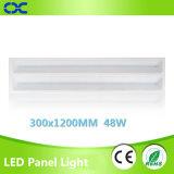 el panel del Ce LED del precio de fábrica de la luz del panel de techo de 300X1200m m 48W