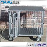 Chariot en aluminium à crabot/caisse en aluminium de crabot