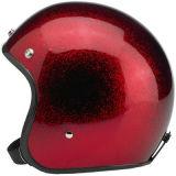 Casque rouge de moto d'éclaille en métal