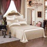 Taihuの雪の絹の優雅シリーズOeko-Tex 100の標準絹の継ぎ目が無い寝具19mommeの実質の贅沢なバニラ純粋なクワ絹シートセット