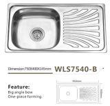 Küchenbedarf der Edelstahl-Wannen-einzelner Filterglocke-Wls7540-B