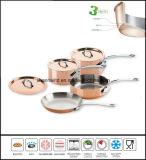 Ensemble plaqué de cuivre de Cookware de 3 plis