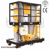 Doppelte Mast-Luftarbeit-Plattform-hydraulischer Aufzug (6m)