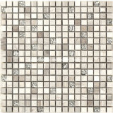 Rustikales Style Marble Mosaic Tiles mit Plated Glass 2016 (F 1221)