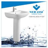 Bassin en céramique de lavage de lavabo sur pied de lavage de Weidansi (WDS-P7207)