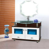 Mirror를 가진 Quality 높은 Floor Standing PVC Glass Bowl Bathroom Vanity