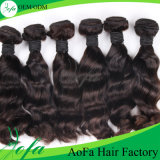 уток человеческих волос Remy волос девственницы объемной волны ранга 7A бразильский