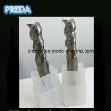 Hélice contínua da flauta do carboneto 3 moinhos de extremidade de alumínio de 45 graus