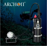 Lumières rechargeables imperméables à l'eau de plongée de l'alliage d'aluminium DEL d'usine d'archonte