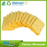 Trapos de limpieza a granel del animal doméstico del paquete, puntos amarillos, conjunto de 12