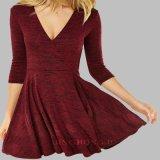 Обруча балета Knit повелительниц платье пирофакела вечера втулки уютного длиннее