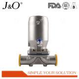 Válvula de diafragma sanitaria con el actuador del acero de Stainles