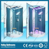 Deluxe cabina de la ducha azul del color con la barra de toalla y Seat (SR217G)