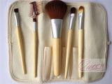 Brosse de lecture professionnelle de maquillage de poignée en bois de la marque de distributeur 5PCS