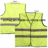 A venda por atacado reflexiva da veste, fábrica da veste da segurança, preço Sleeveless reflexivo da camisa do tráfego da estrada, segurança de tráfego investe o fornecedor