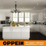 Gabinete de cozinha branco do MDF da laca do projeto de Austrália (OP14-L01)