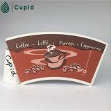 Ventilateur imprimé de /Cup enduit par PE de tasse de papier de Hztl