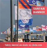 Полиэфир руки летания водоустойчивый резвится флаг, рекламируя флаг