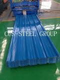 Material para techos prepintado de la hoja del perfil del rectángulo del azulejo de material para techos del metal del trapezoide