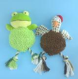 밧줄 2 Asst.를 가진 연약한 견면 벨벳 애완 동물 동물 장난감
