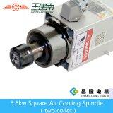 eje de rotación cuadrado de alta velocidad del CNC de la refrigeración por aire de 3.5kw Er25 para la madera que talla con la pista dos