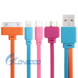 Цветастый Pin Micro 5 кабеля мобильного телефона USB + кабель Sync Pin кабеля + молнии 8 обязанности 30 Pin