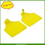 Gelbe Farben-kundenspezifisches Drucken-Ohr, das Marke einkerbt