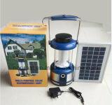 Lumières Emergency légères solaires de tente campante de DEL avec le bâti en aluminium bleu