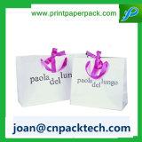 Impressão Flowery com o saco de papel do punho luxuoso de Riddon