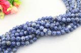 반 매우 자연적인 돌 느슨한 구슬은 판매를 위한 4-12mm 백색과 파란 느슨한 원석을 돈다