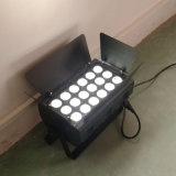 Luz profissional do diodo emissor de luz Christams de Rgbawuv 18PCS da arruela da parede