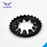 Rondelle de freinage dentée de combinaison avec le zinc noir
