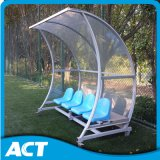 UV Protection 및 Shatter Proof Outdoor Portable Footbal Dugouts/Bench