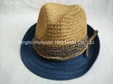 Toyo Crocheted бумажный сторновки Fedora шлем 100% сторновки