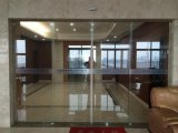 オフィスの彎曲部のガラスBi分割の自動引き戸