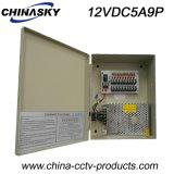 C.C 12V 5A (12VDC5A9P) de cadre de bloc d'alimentation d'appareil-photo de télévision en circuit fermé des 9 Manche