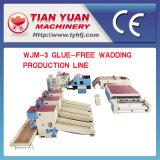 Guata consolidada termal no tejida que hace la cadena de producción