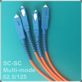 Cord Sc-Sc 62,5 / 125 multimodo fibra óptica Patch