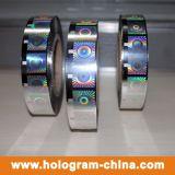 Seguridad de plata holograma láser gofrar caliente