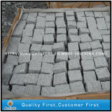 Strada privata naturale del lastricatore della pietra del ciottolo del granito G603 per pavimentare